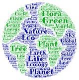 Nuvola verde di parola del pianeta Fotografia Stock Libera da Diritti