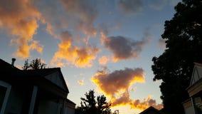 Nuvole accese Fotografia Stock Libera da Diritti