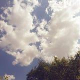 nuvole al cielo Fotografia Stock Libera da Diritti