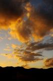 Nuvole al tramonto Fotografia Stock Libera da Diritti