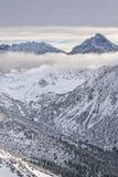 Nuvole alla cima di Kasprowy Wierch in Zakopane in Tatras in wi Fotografie Stock Libere da Diritti