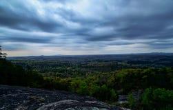 Nuvole alla montagna della Tabella Fotografia Stock Libera da Diritti