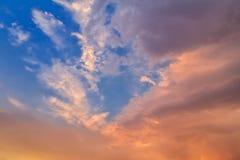 Nuvole arancio di sera Immagine Stock Libera da Diritti