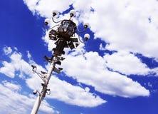 Nuvole bianche del cielo blu di Pechino Fotografie Stock