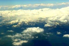 Nuvole bianche qui sotto Fotografie Stock
