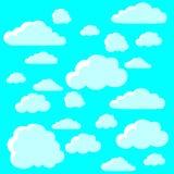 Nuvole blu, carta da parati Illustrazione di Stock
