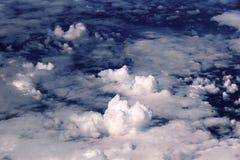 Nuvole, blu, fondo Fotografia Stock