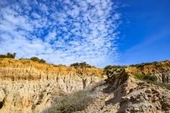 Nuvole che allineano a Torrey Pines Fotografia Stock