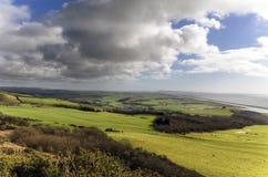 Nuvole che si riuniscono sopra Abbotsbury Fotografia Stock Libera da Diritti