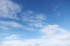 Nuvole in cielo Fotografia Stock Libera da Diritti