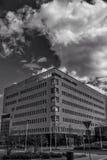 Nuvole in città Immagini Stock