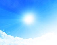 Nuvole con spazio aperto per la copia illustrazione di stock