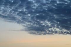 Nuvole crepuscolari nei precedenti del cielo blu Immagine Stock Libera da Diritti