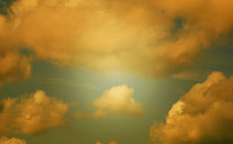 Nuvole d'annata Fotografia Stock Libera da Diritti