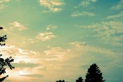 Nuvole d'annata immagini stock