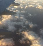 Nuvole da su Fotografia Stock