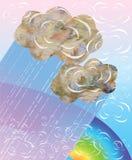 Nuvole decorative di vettore royalty illustrazione gratis