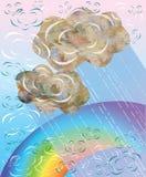 Nuvole decorative di vettore illustrazione di stock