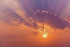 Nuvole del cielo di Sun Fotografia Stock