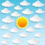 Nuvole del cielo di Sun Royalty Illustrazione gratis