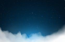 Nuvole del cielo notturno Fotografia Stock