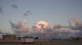Nuvole del cigno Fotografia Stock Libera da Diritti