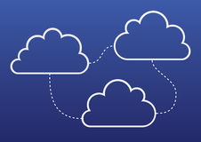 Nuvole del computer Fotografia Stock