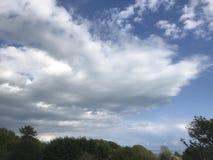 Nuvole del cotone fotografie stock libere da diritti