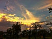 Nuvole del fuoco Fotografia Stock