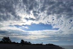 Nuvole del golfo del Messico dopo alba Fotografia Stock Libera da Diritti