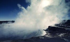 Nuvole del vapore! Fotografie Stock Libere da Diritti
