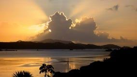 Nuvole dell'acqua di alba Immagine Stock Libera da Diritti