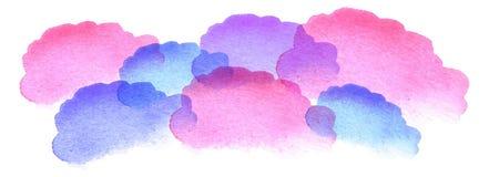 Nuvole dell'acquerello Fotografia Stock Libera da Diritti
