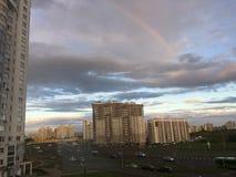 Nuvole dell'arcobaleno Immagini Stock