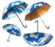 Nuvole dell'ombrello messe Immagini Stock Libere da Diritti