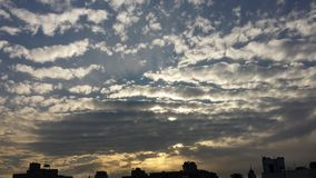 Nuvole della città Fotografia Stock