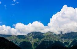Nuvole della montagna Fotografie Stock Libere da Diritti