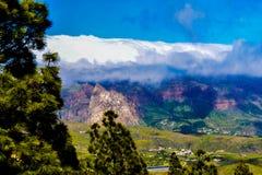 Nuvole della montagna nell'Isole Canarie di Gran Fotografie Stock