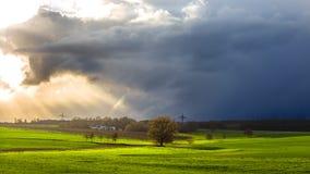 Nuvole della primavera Fotografia Stock