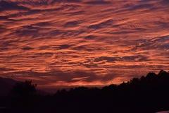 Nuvole della sera immagine stock
