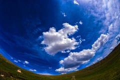 Nuvole della valle Fotografie Stock