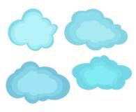 Nuvole delle illustrazioni di vettore Immagine Stock Libera da Diritti