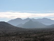 Nuvole delle montagne Fotografie Stock