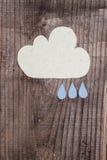 Nuvole di carta Immagini Stock