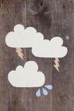 Nuvole di carta Fotografie Stock