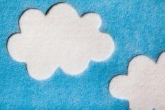 Nuvole di Felted Immagini Stock