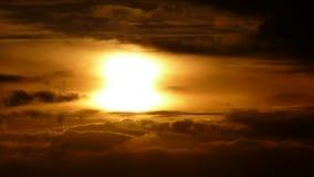 Nuvole di fuoco Fotografia Stock