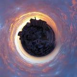 Nuvole di fuoco liquido immagine stock