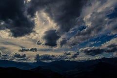 Nuvole di inverno Fotografie Stock Libere da Diritti
