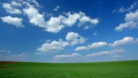Nuvole di lasso di tempo al campo stock footage